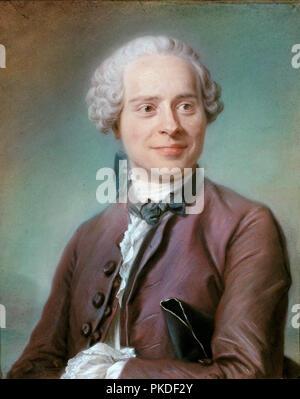 Jean Le Rond D'Alembert, Jean Le Rond d'Alembert (1717 - 1783) mathématicien et physicien français, Portrait de Jean Le Rond D'Alembert par Maurice Quentin de La Tour Banque D'Images
