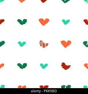 Avec motif transparent mignon lumineuse inhabituelle les cœurs. Banque D'Images