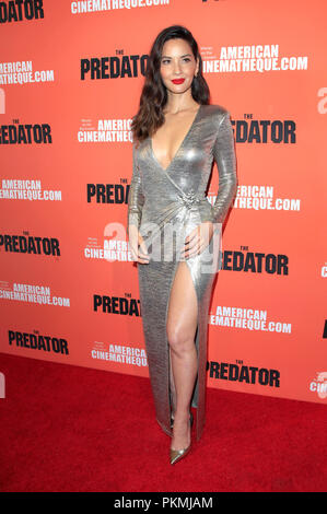 Olivia Munn assister à 'la' projection spéciale à l'Egyptian Theatre le 12 septembre 2018 à Los Angeles, Californie. Banque D'Images