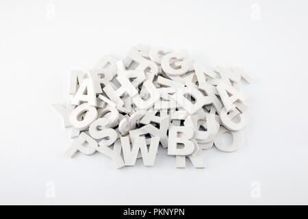 Lettres Alphabet En Bois Langue Anglais A B C D E F Dans L Image De