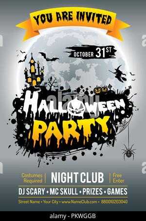 Happy Halloween Party Poster Banque D'Images
