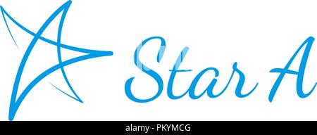 Hand drawn vector star logo. Banque D'Images