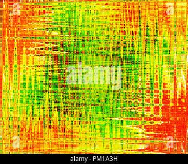 Résumé fond coloré en vert, orange, jaune et rouge avec des lignes Banque D'Images