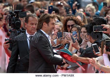 Javier Bardem, acteur. TIFF: 2018 Toronto International Film Festival est l'un des événements les plus importants de l'industrie du film dans le monde Banque D'Images