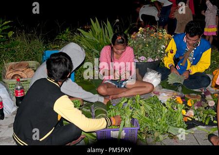 La Thaïlande, Koh Samui, Loy Krathong Festival Festival Loy Krathong (fête de l'eau) - Thailande Banque D'Images