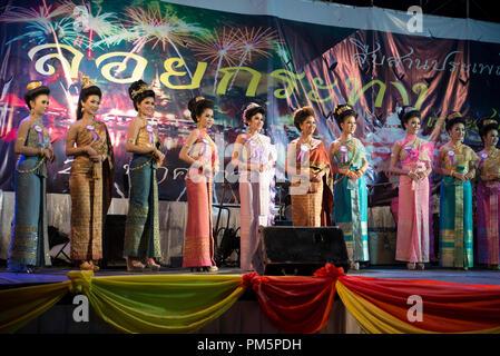 La Thaïlande, Koh Samui, Loy Krathong Festival, concours Noppamas Banque D'Images