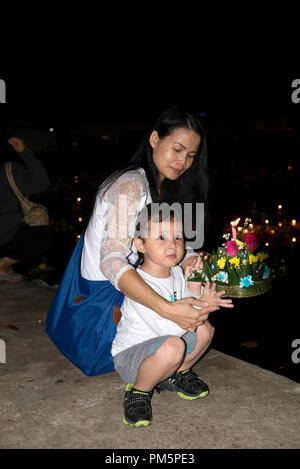 La Thaïlande, Koh Samui, Loy Krathong Festival Banque D'Images