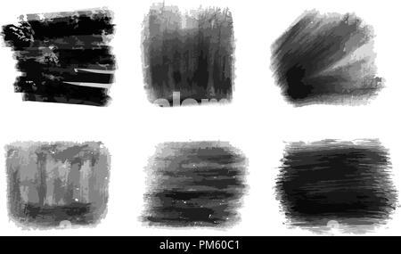 Les coups de crayons noir. Vector background pour imprimer la décoration. L'espace couleur CMJN. Banque D'Images