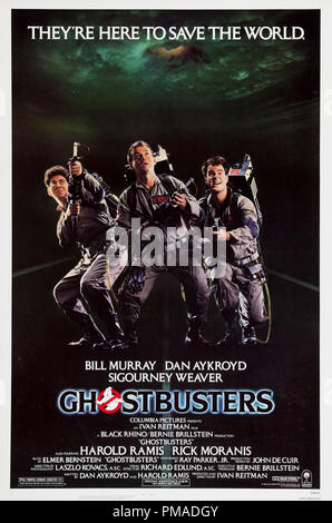 'Ghostbusters' - Affiche 1984 Columbia Pictures nous Bill Murray, Dan Aykroyd, Harold Ramis, Référence du dossier #  32509_169THA Banque D'Images