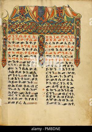 La page Incipit décorées. Date/Période: Ca. 1504 - 1505. Folio. Tempera sur parchemin. Hauteur: 345 mm (13,58); Largeur: 265 mm (10.43 in). Auteur: Inconnu. Banque D'Images