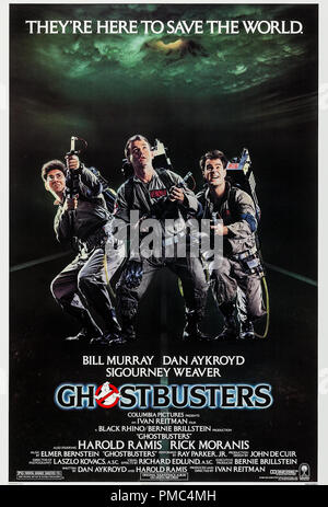 Bill Murray, Dan Aykroyd, Harold Ramis, Ghostbusters (Columbia, 1984). Référence de fichier affiche #  33595_872THA Banque D'Images