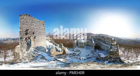 Tematínskeho Ruiny hradu - Slovaquie Banque D'Images