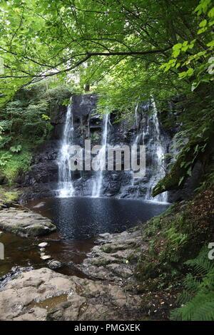 Cascade de Glenariff Forest Park, dans le comté d'Antrim, Irlande du Nord, Royaume-Uni Banque D'Images