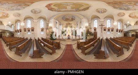 Église catholique - Assomption de Marie - Stuttgart Feuerbach Banque D'Images