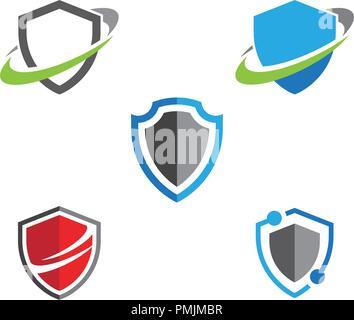 Symbole de protection modèle logo vector illustration design
