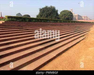 Détail architectural de la Rajpath, New Delhi, Inde Banque D'Images