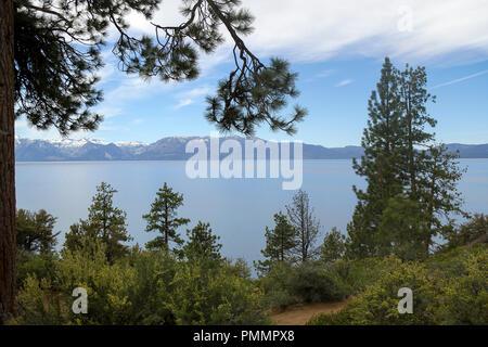 Logan Shoals Vista Point, Zephyr Cove, Lake Tahoe, Nevada, United States Banque D'Images
