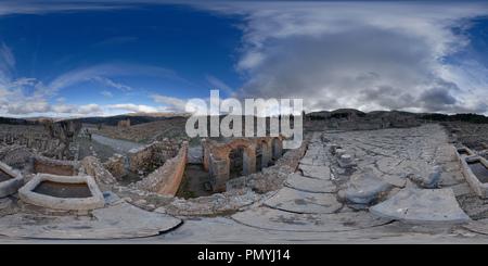 Vue sur les vestiges romains, Djemila, Algérie Banque D'Images