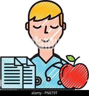 Portrait médecin documents et soins apple