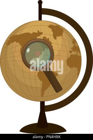 Planète Terre 24 loupe Banque D'Images
