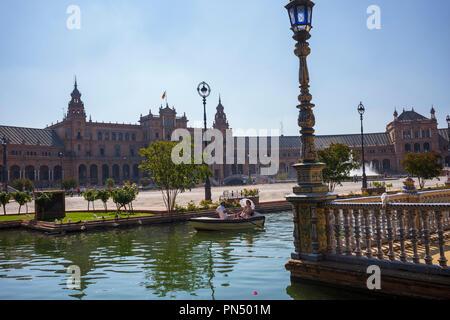 Plaza de España, Séville, Espagne Banque D'Images