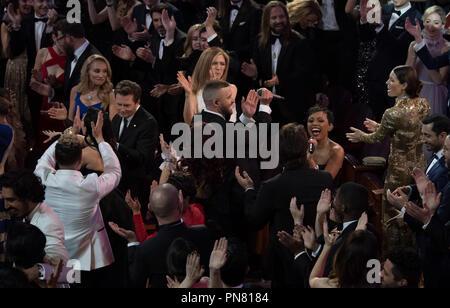 Justin Timberlake effectue au cours de la 89e cérémonie des Oscars® au Dolby® Theatre à Hollywood, CA le Dimanche, Février 26, 2017. Référence # 33242 Fichier 363THA pour un usage éditorial uniquement - Tous droits réservés Banque D'Images