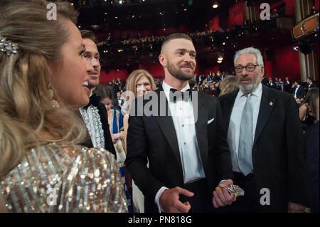 Justin Timberlake assiste à la 89e cérémonie des Oscars® au Dolby® Theatre à Hollywood, CA le Dimanche, Février 26, 2017. Référence # 33242 Fichier 368THA pour un usage éditorial uniquement - Tous droits réservés Banque D'Images