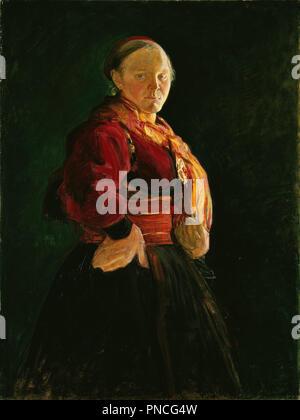 Portrait de Mari Clasen. Date/période: 1895. La peinture. Olje på lerret. Largeur: 97,5 cm. Hauteur: 125 cm. Auteur: HALFDAN EGEDIUS. Banque D'Images