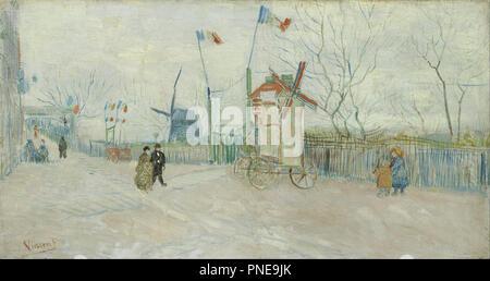 Impasse des Deux Frères. Date/Période: Février 1887 - avril 1887. Paysage. Huile sur toile. Auteur: Vincent VAN GOGH. VAN GOGH, VINCENT.