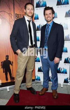 Los Angeles, USA. 13 Septembre, 2018. Producteur Josh Riedford (à gauche), David McCracken (droite) assister à la projection de Bullitt Comté. Banque D'Images