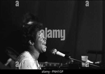 Les concerts Aretha Franklin, Palais des Sports, 1977 Banque D'Images