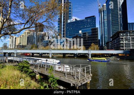 Bateau de croisière Melbourne sur le Fleuve Yarra, Melbourne, VIC, Australie