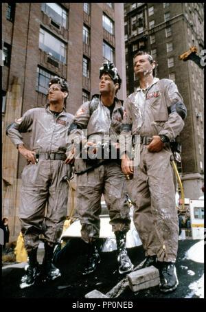 Prod DB © Columbia / DR S.O.S. Fantômes (GHOSTBUSTERS) de Ivan Reitman 1984 USA avec Harold Ramis, Dan Aykroyd et Bill Murray, exterminateurs Banque D'Images