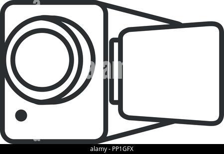 L'icône de caméra vidéo sur fond blanc, vector illustration Banque D'Images