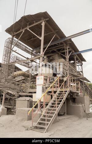 L'exploitation minière industrielle complexe d'usines Banque D'Images