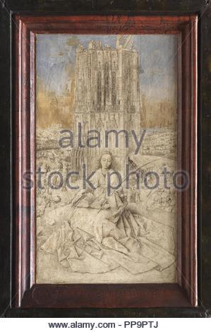 Sainte Barbara. Musée: Musée Royal des Beaux-Arts, Anvers. Auteur: VAN EYCK, JAN. Banque D'Images