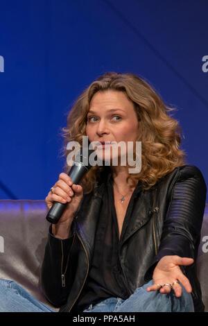 Fürth, Allemagne - 22 septembre 2018: Leeanna Walsman (*1979, l'actrice - Zam Wesell dans Star Wars II: l'Attaque des Clones, Wentworth) du Noris vigueur C Banque D'Images