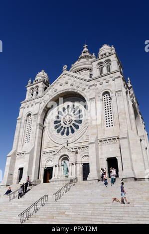 Le sanctuaire de Santa Luzia, Viana do Castelo, Portugal Banque D'Images