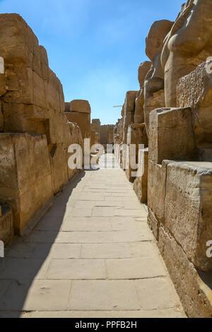 Le complexe du temple de Karnak, aussi connu comme le Temple de Karnak, à Thèbes, Luxor, Egypte Banque D'Images
