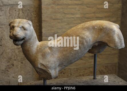 L'art grec femme panthère. Environ 380 BC. Glyptothèque. Munich. L'Allemagne.