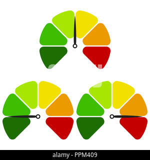 L'icône de l'indicateur de télévision. L'indicateur coloré signe. Logo Vector pour la conception web, mobiles et des infographies. Illustration vecteur eps10. Isolated on white ba Banque D'Images