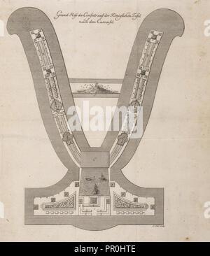Grund-riss des Confects auf der königlichen Tafel, nach dem Caroussel, Beschreibung der zu Dressden Illumination