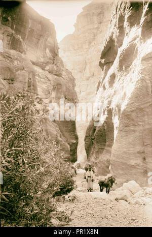 Petra, Sik entrée. 1898, Jordanie, Petra, la ville disparue Banque D'Images