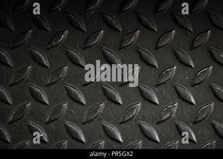 En aluminium noir avec la texture de fond de forme rhombus Banque D'Images