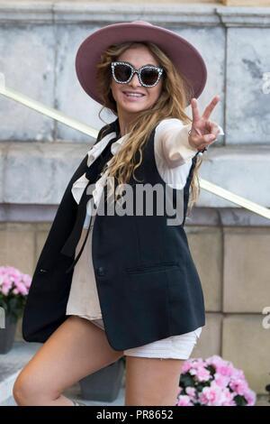Paulina Rubio bei der Ankunft am Hotel Maria Cristina auf dem 66. Internationalen Filmfestival San Sebastian /