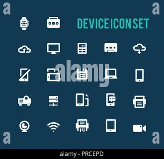 Device Icon Set Banque D'Images