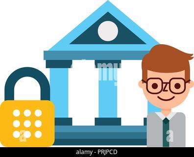Banque d'affaires du commerce sécurité fintech Banque D'Images