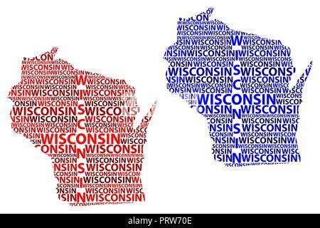 Carte Amerique Wisconsin.Sketch Wisconsin Etats Unis D Amerique Texte De La Lettre
