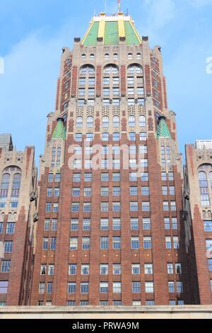 BALTIMORE, USA - 12 juin 2013: Bank of America building vue extérieure à Baltimore, Maryland. Célèbre bâtiment Art déco datant de 1924. Banque D'Images