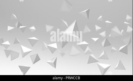 Le rendu 3D de formes géométriques triangle , abstract high key et sélectionné l'accent historique . Banque D'Images